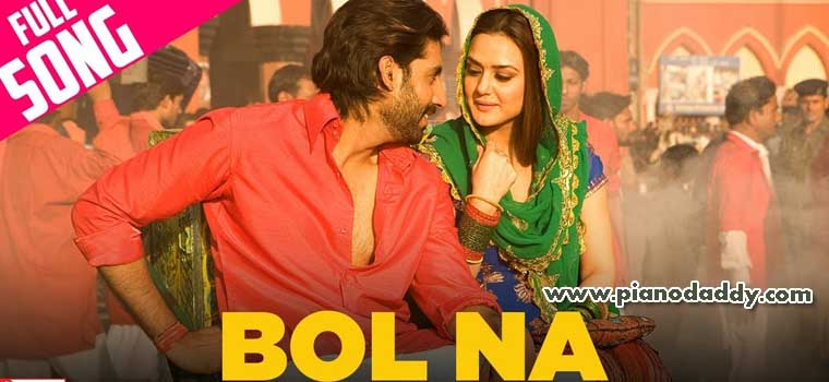 Bol Na Halke Halke Jhoom Barabar Jhoom Piano Notes Hindi Songs