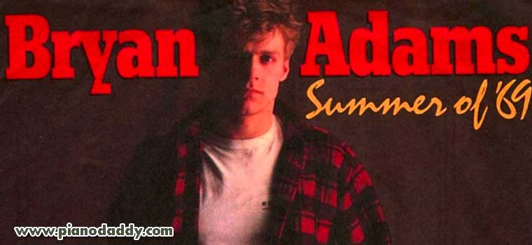 Summer Of 69 Bryan Adams Piano Notes English Songs Piano Sheet