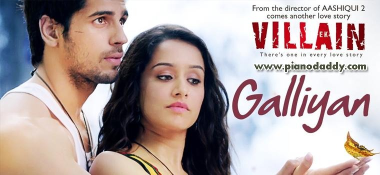 Galiyan Ek Villain Piano Chords Hindi Songs Piano Chords Piano